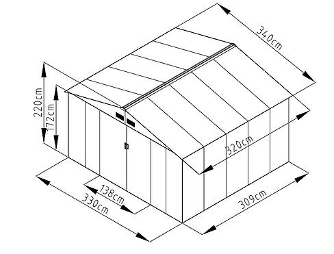 שרטוט מחסן מתכת ID1111